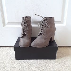 Soda Taupe Lace-Up Boots